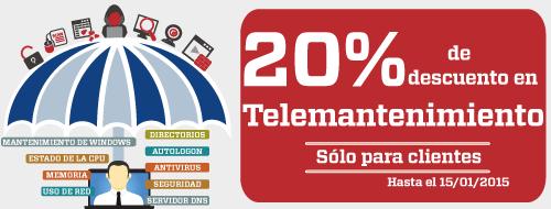 20% de descuento en Telemantenimiento